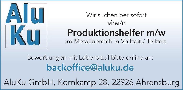 Produktionshelfer m/w