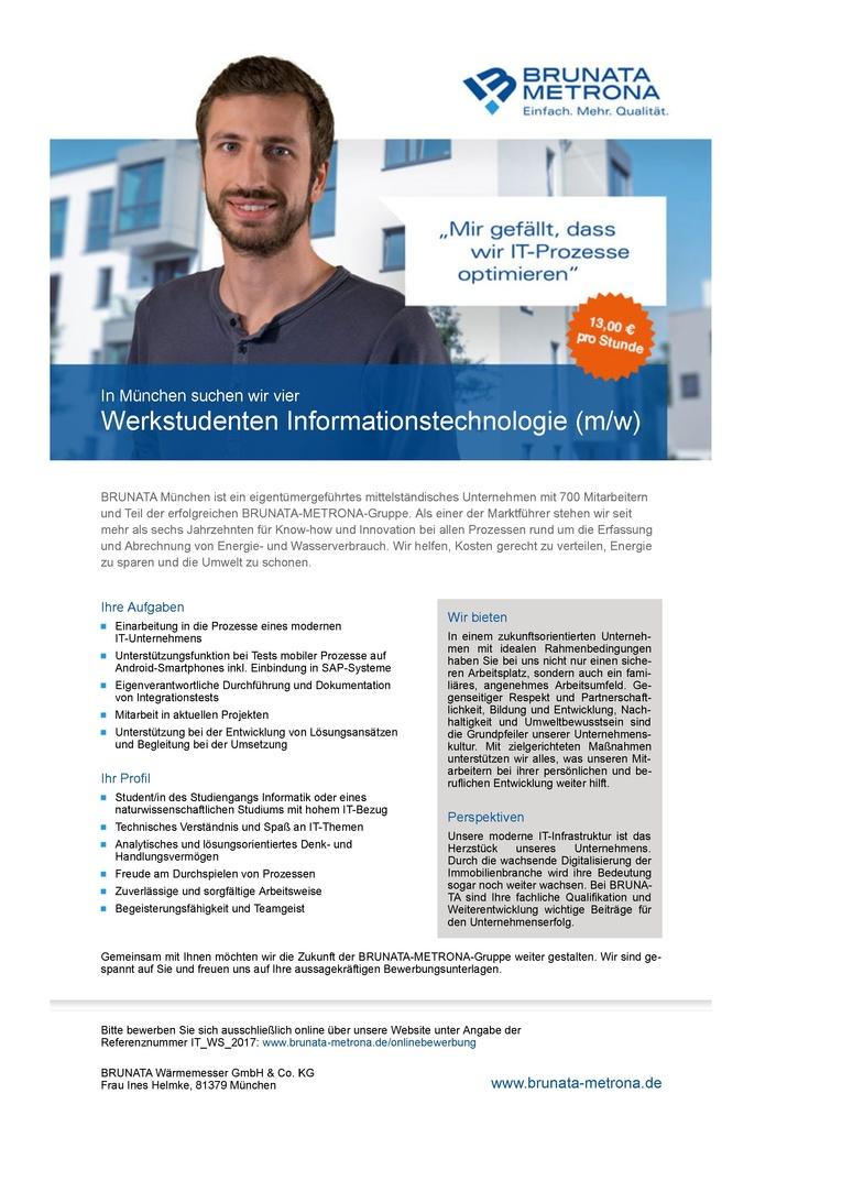 Werkstudenten Informationstechnologie (m/w)