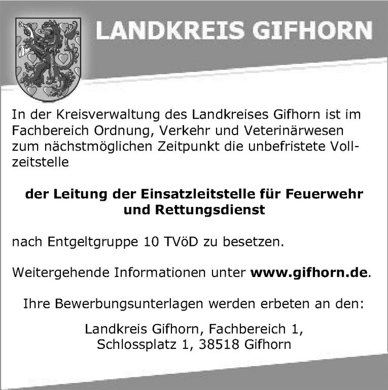 Leitung der Einsatzleitstelle für Feuerwehr und Rettungsdienst (m/w)