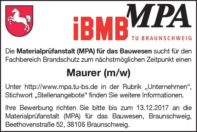 Maurer (m/w)