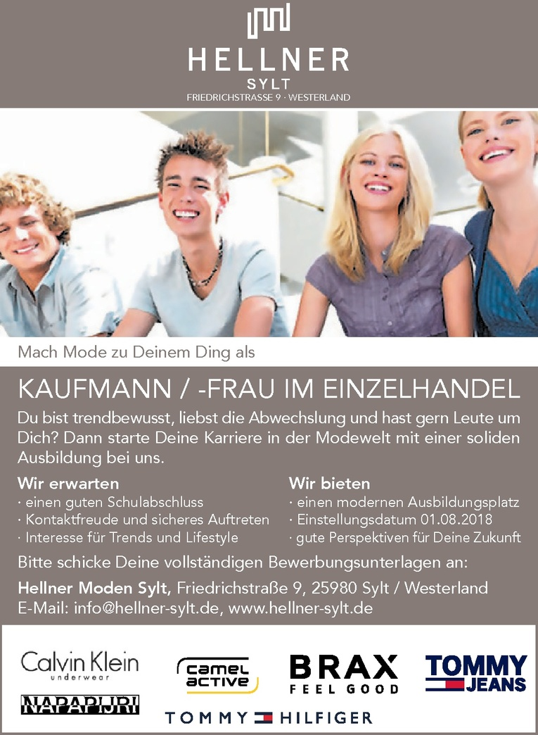 Ausbildung: Kaufmann/-frau im Einzelhandel (m/w)
