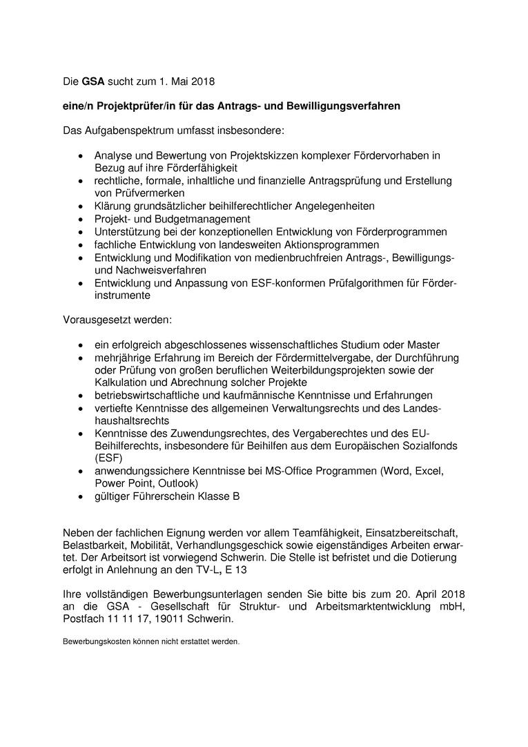 Projektprüfer/in für das Antrags- und Bewilligungsverfahren