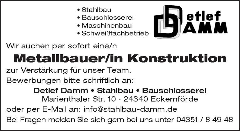 Metallbauer/in Konstruktion