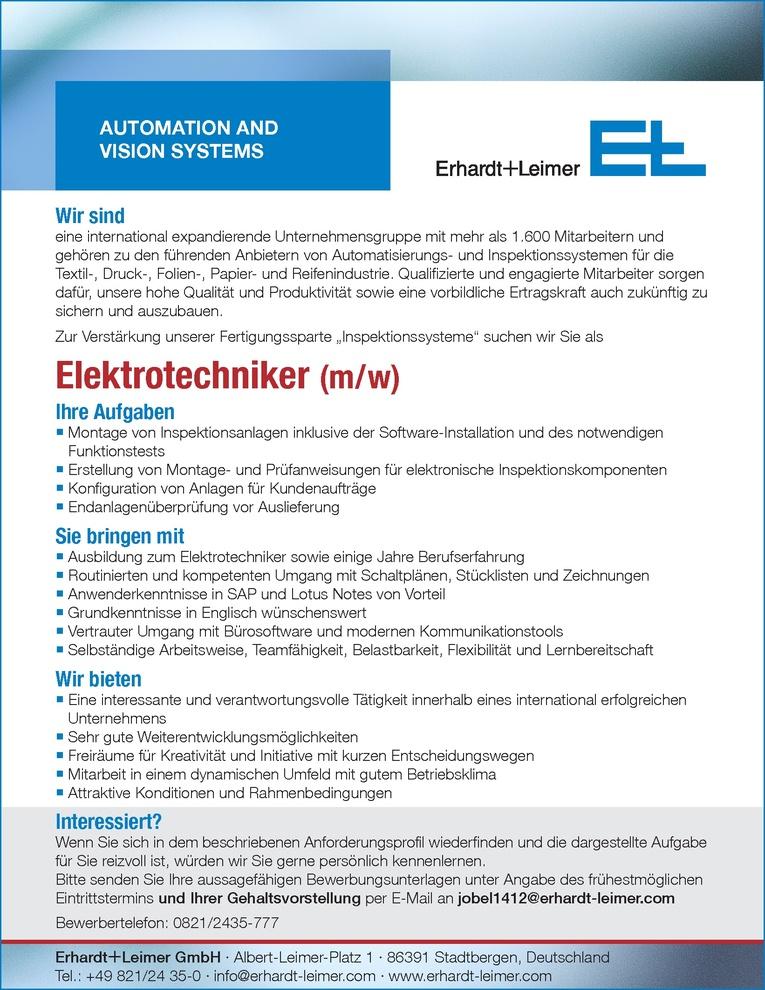 Elektrotechniker (m/w)