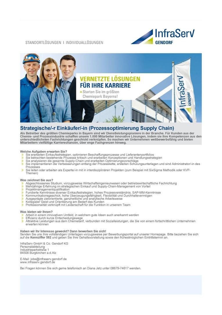 Strategische/-r Einkäufer/-in (Prozessoptimierung Supply Chain)