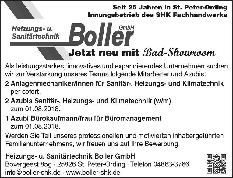 Azubis Sanitär-, Heizungs- und Klimatechnik (w/m)