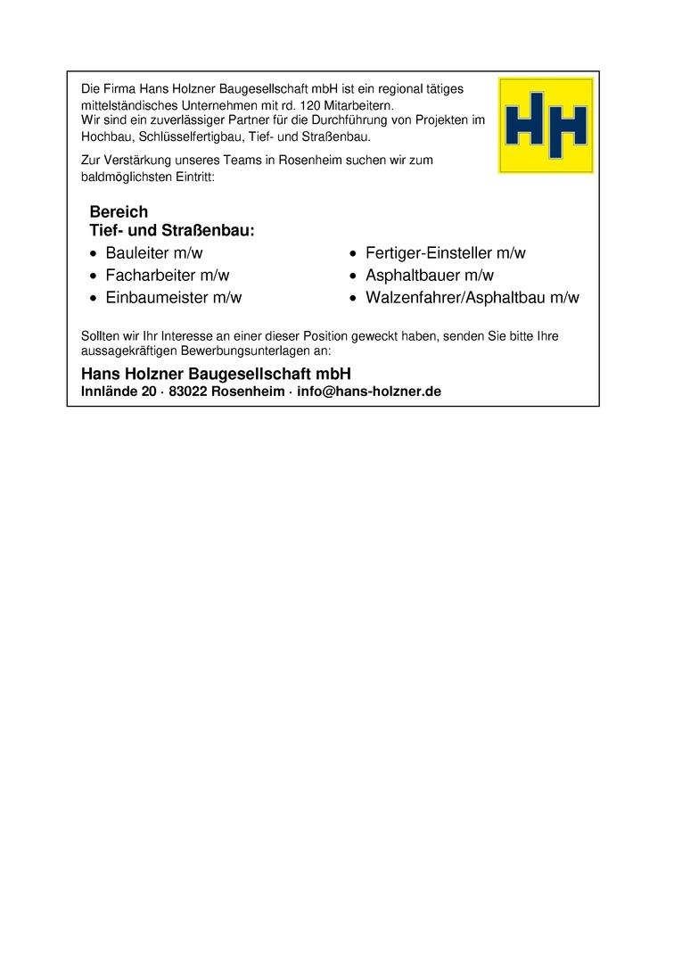 Fertiger-Einsteller m/w