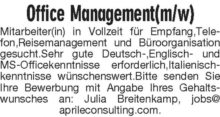 Office Management (m/w)