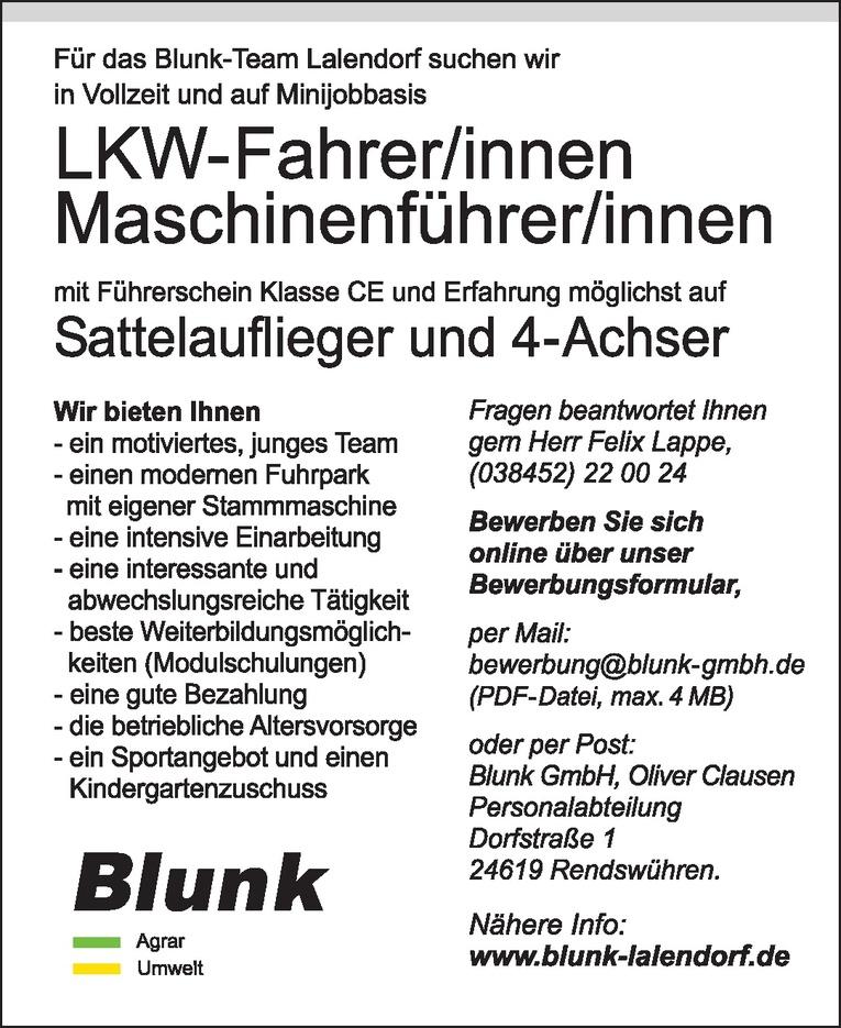 Maschinenführer/innern