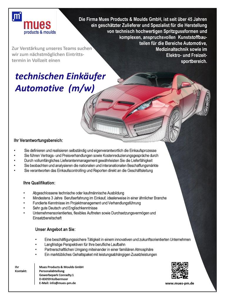 Technischen Einkäufter Automotive (m/w)