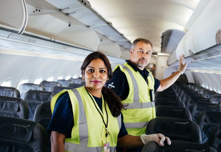 Mitarbeiter/in für die Flugzeugreinigung am Flughafen (Vollzeit)