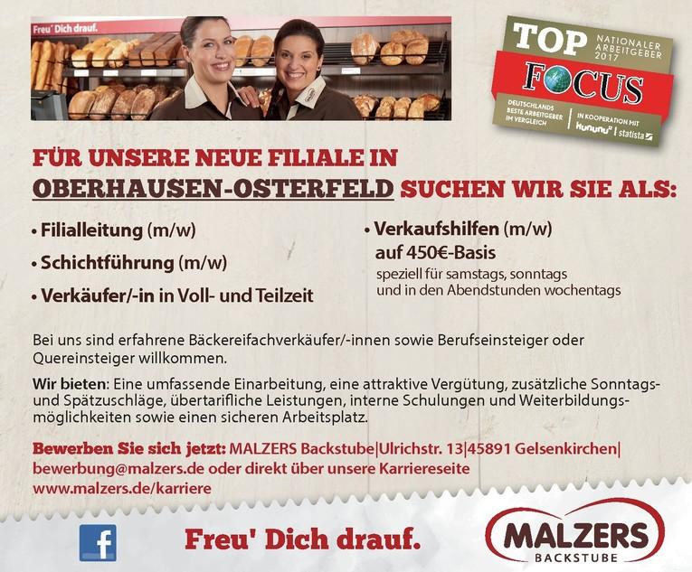 Aushilfsverkäufer/-in für unsere neue Filiale in Oberhausen-Osterfeld