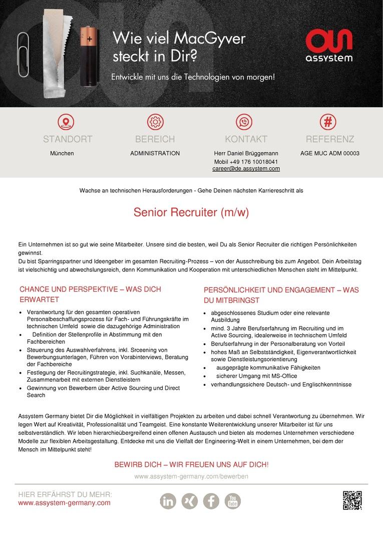Senior Recruiter (m/w)