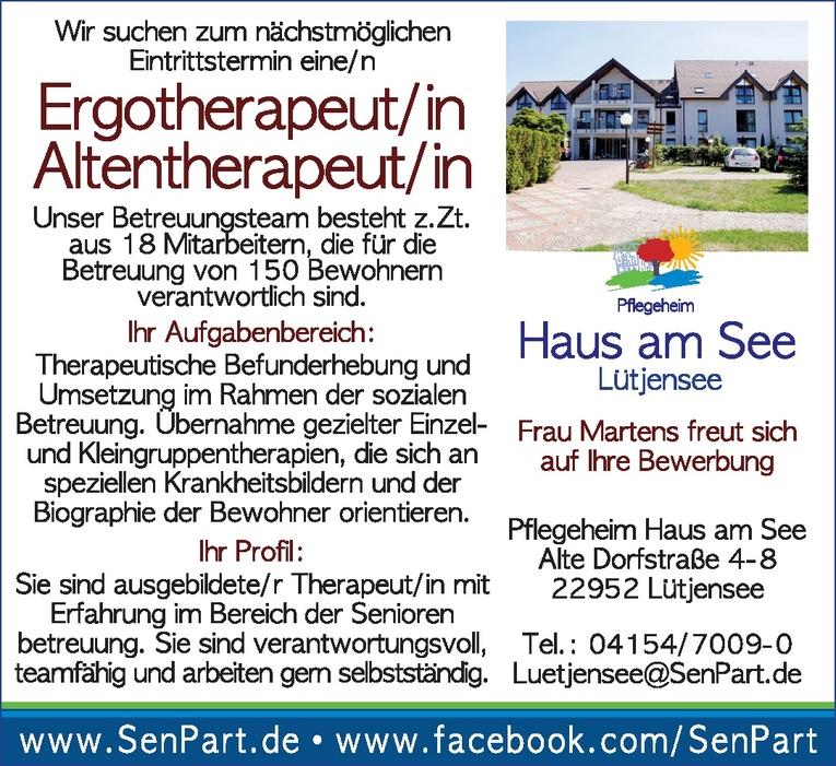 Ergotherapeut / Altentherapeut (m/w)