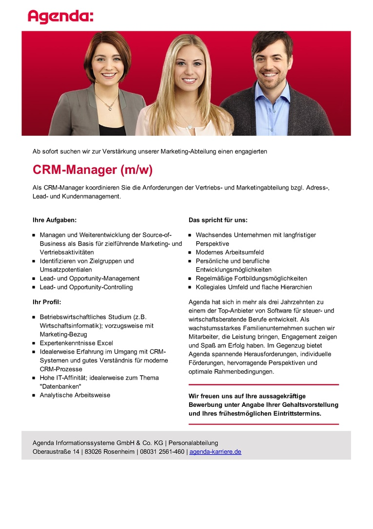 CRM-Manager (m/w)