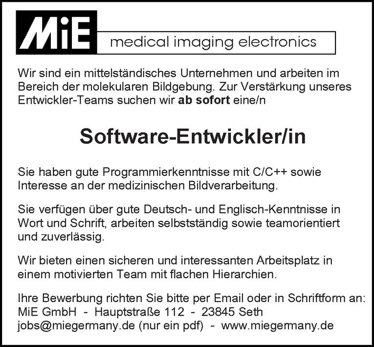 Software-Entwickler/in