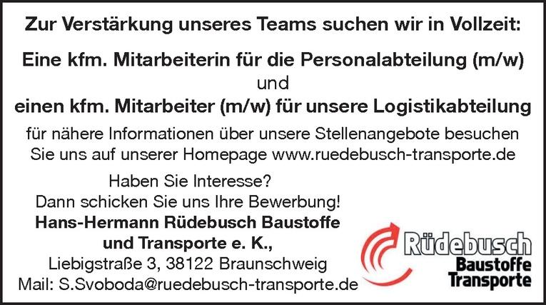 kfm. Mitarbeiter (m/w) Logistikabteilung