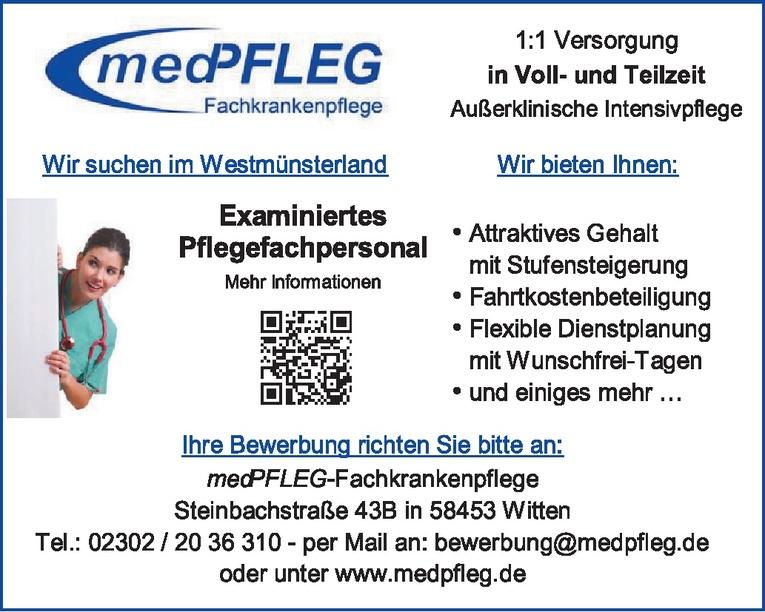Examiniertes Pflegefachpersonal (m/w)