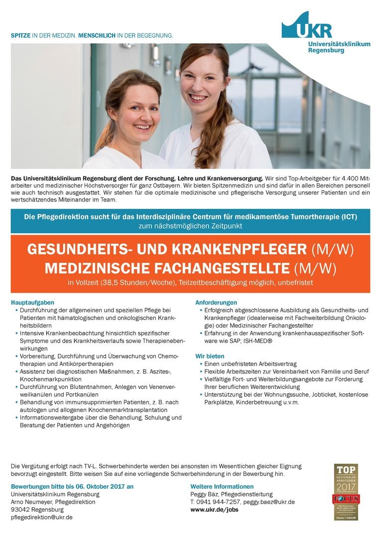 GESUNDHEITS- UND KRANKENPFLEGER (M/W) MEDIZINISCHE FACHANGESTELLTE (M/W)