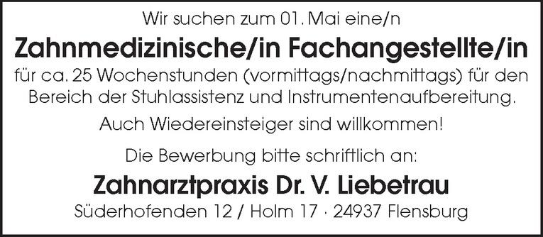 Zahnmedizinische/in Fachangestellte/in