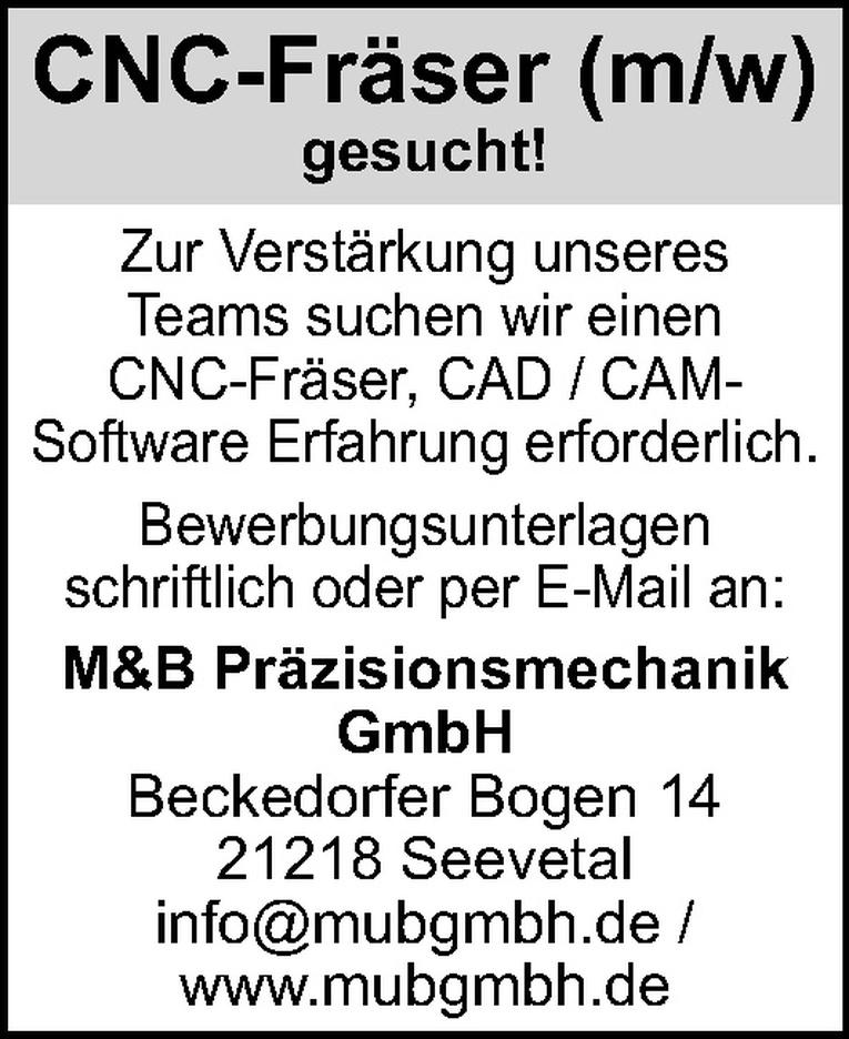 CNC-Fräser (m/w)