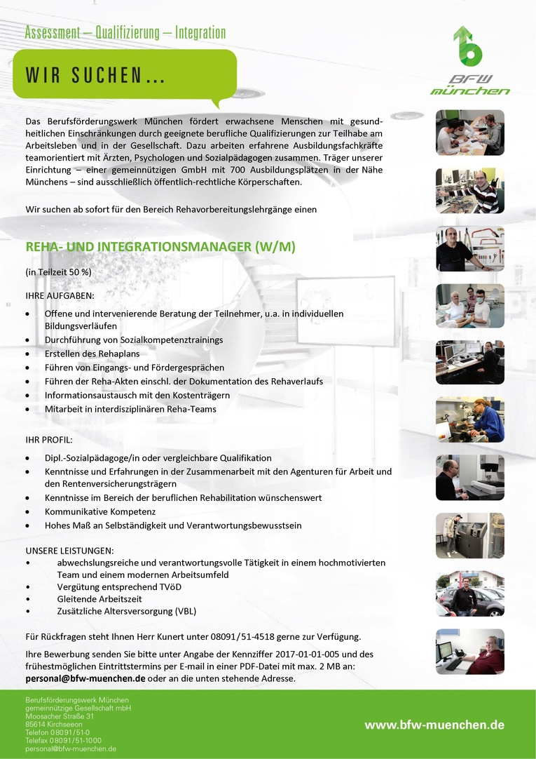 Reha-Integrationsmanager/-in