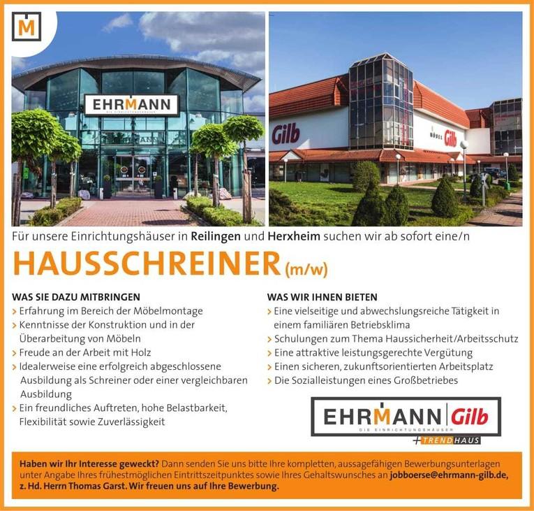 Hausschreiner (m/w)