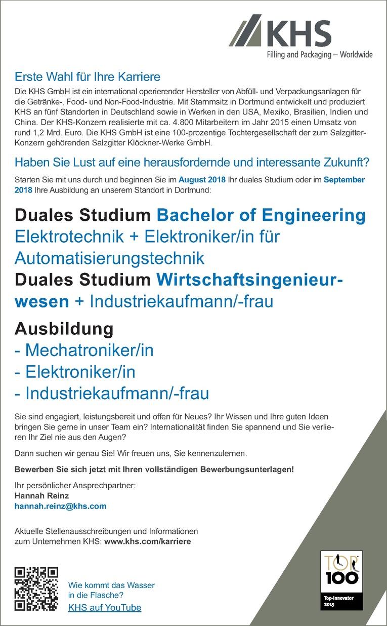 Duales Studium Wirtschaftsingenieurwesen + Industriekaufmann/-frau