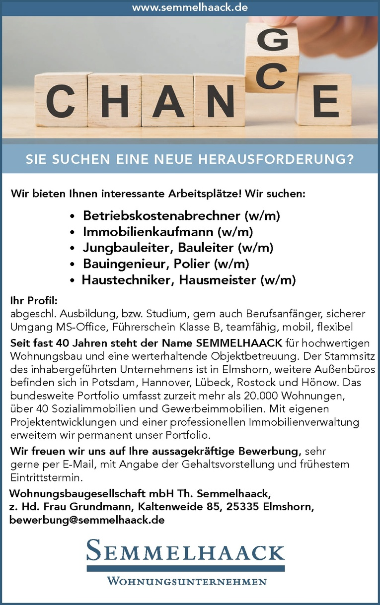 Haustechniker / Hausmeister (w/m)