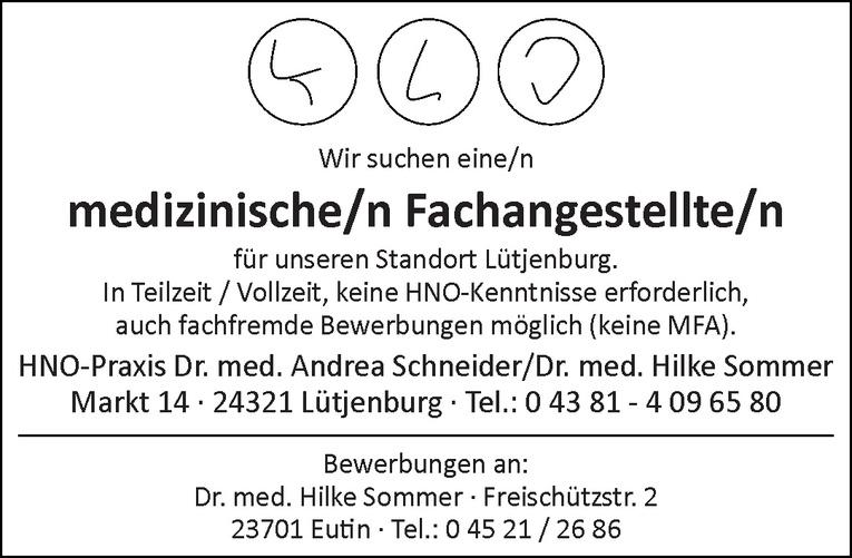 medizinische/n Fachangestellte/n