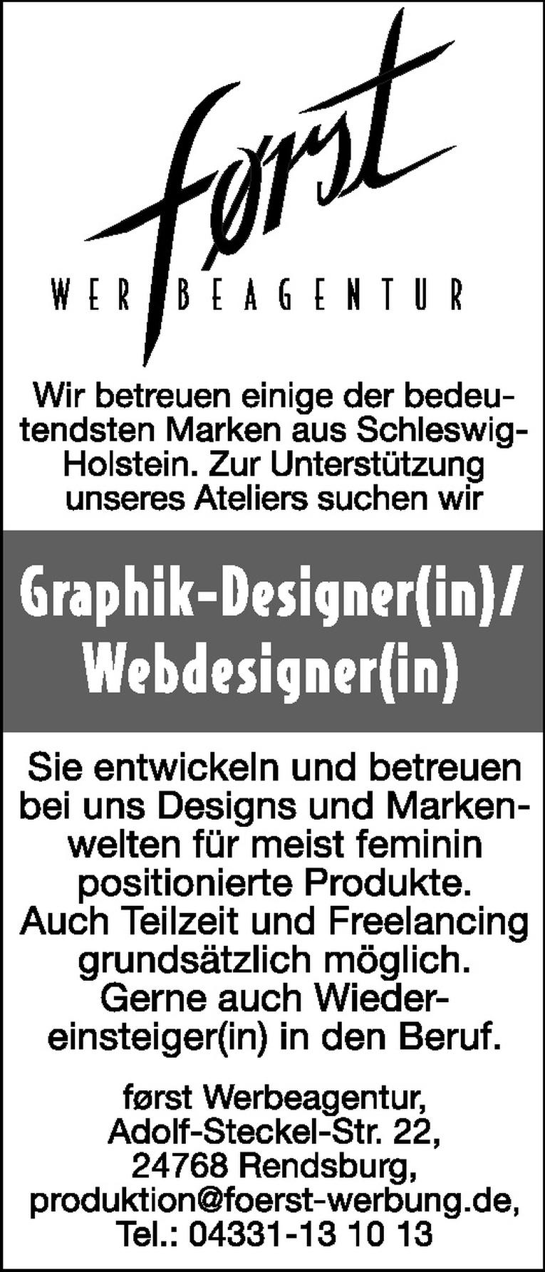 Graphik-Designer(in)/Webdesigner(in)