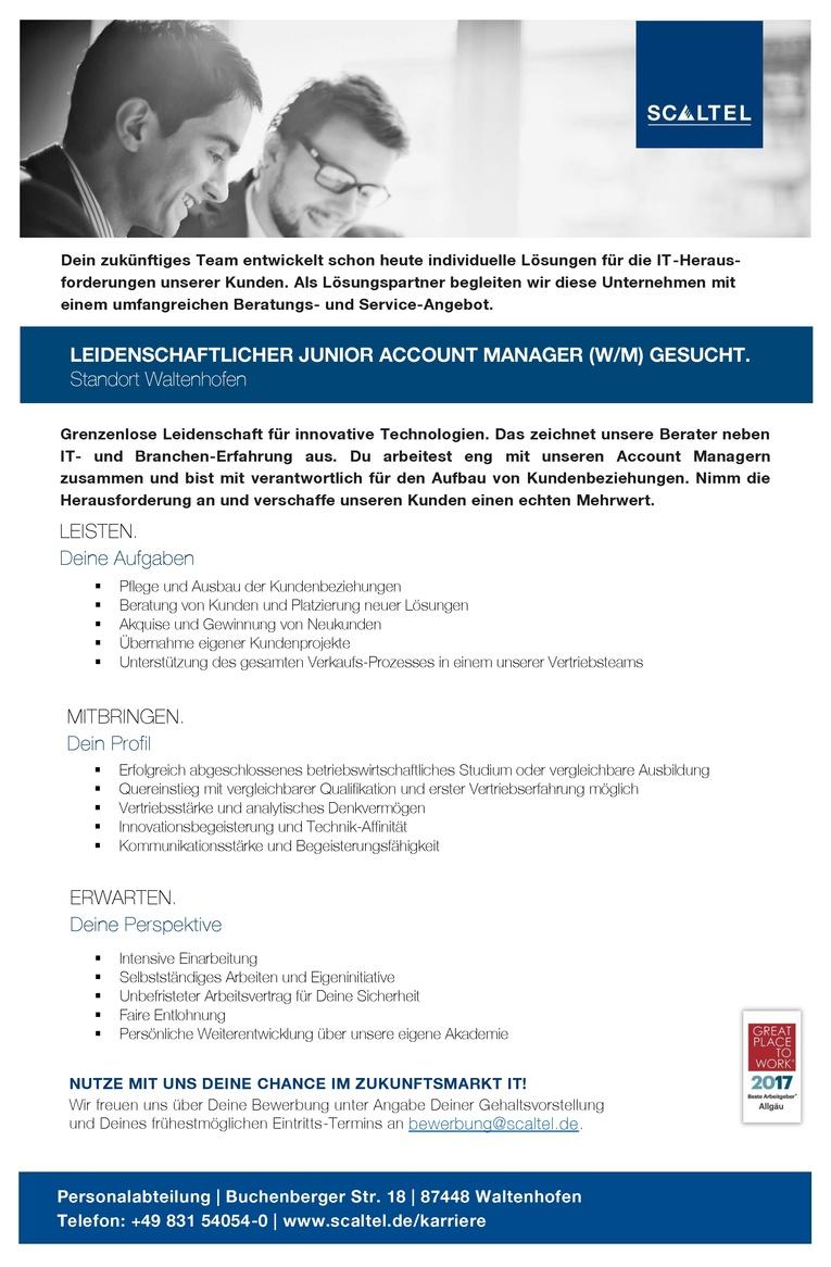 LEIDENSCHAFTLICHER JUNIOR ACCOUNT MANAGER (W/M)