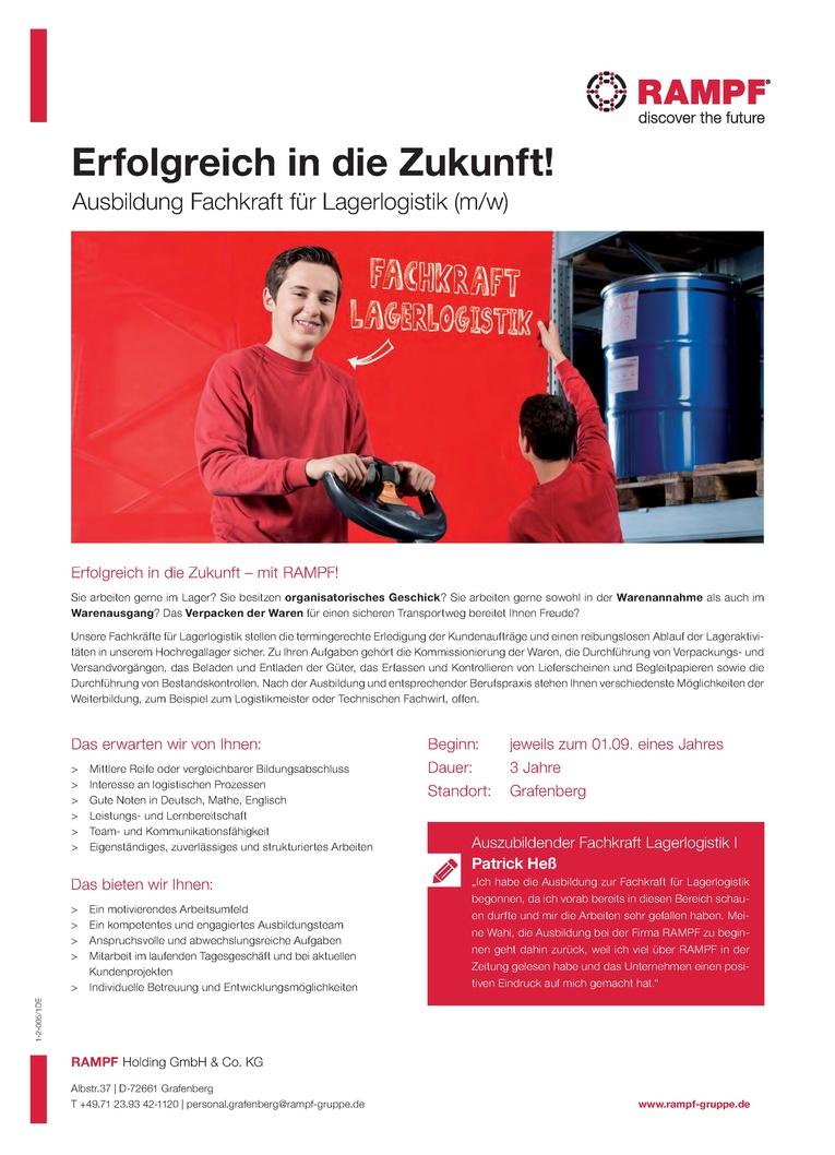 Ausbildung 2018 - Fachkraft für Lagerlogistik (m/w)