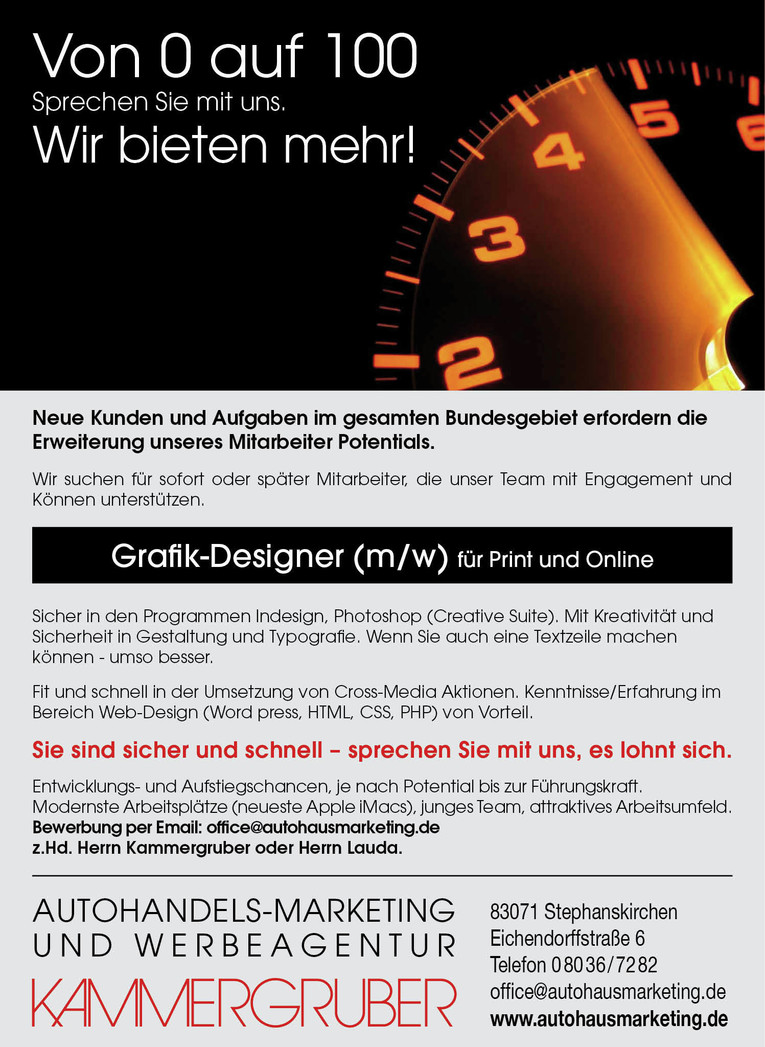 Job grafik designer grafiker m w f r print und online for Grafik design job