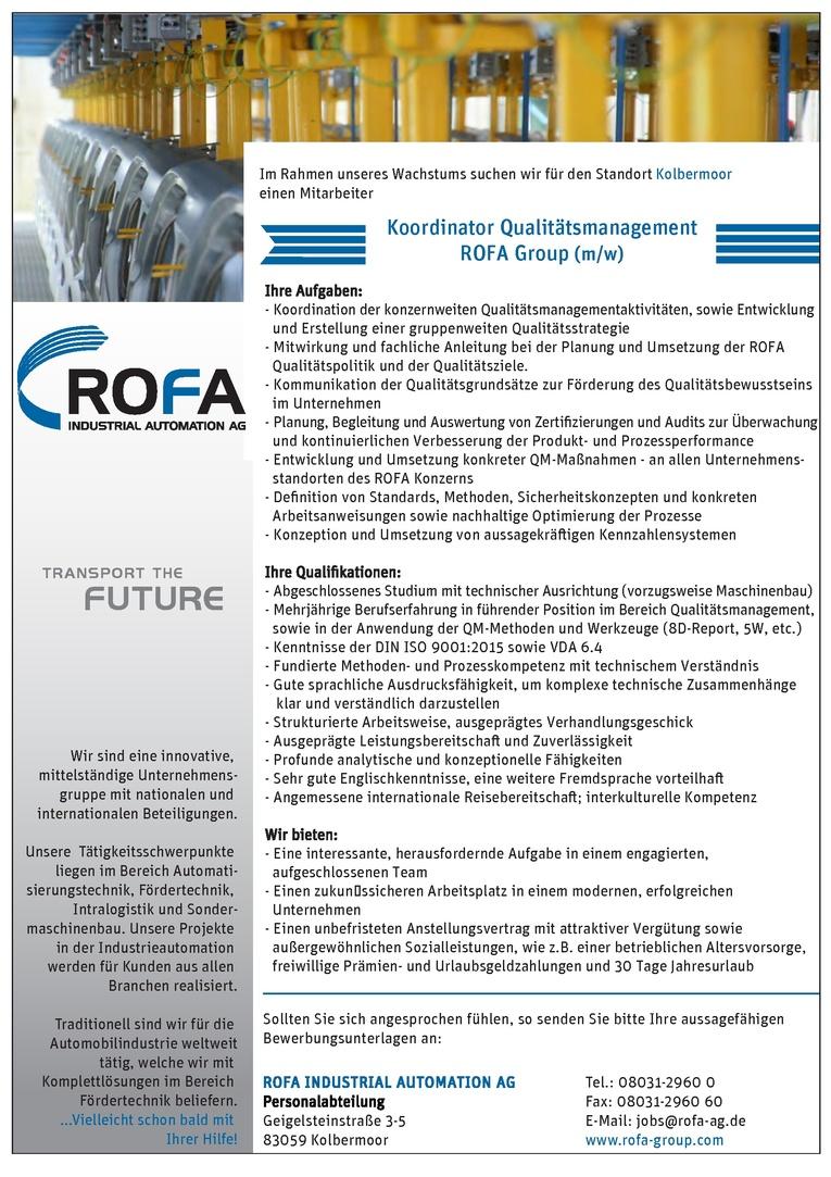 Koordinator Qualitätsmanagement