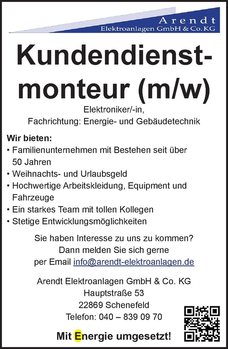 Kundendienstmonteur (m/w)