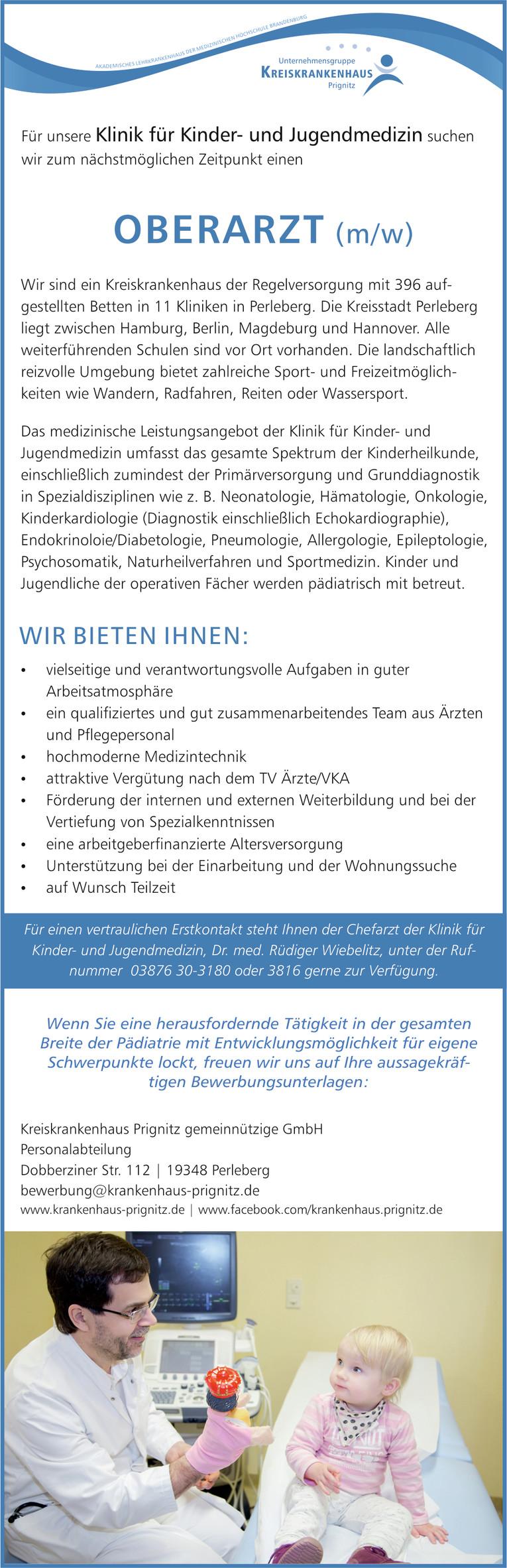Oberarzt (m/w) | Klinik für Kinder- und Jugendmedizin in Perleberg