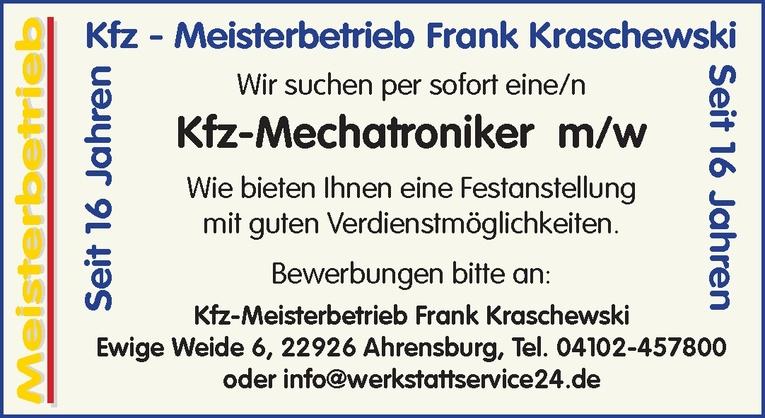 Kfz-Mechatroniker m/w