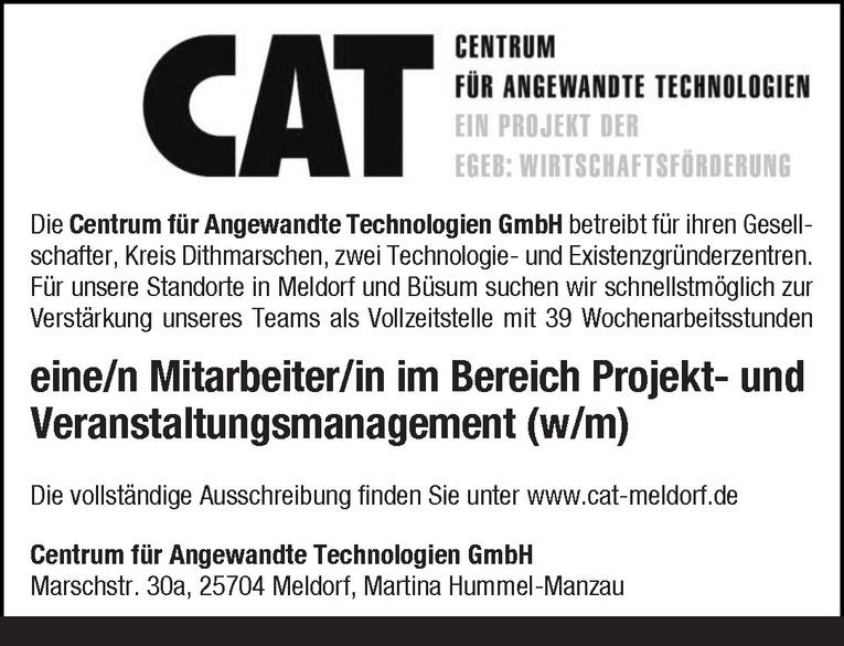 Mitarbeiter/in Projekt- und Veranstaltungsmanagement (w/m)