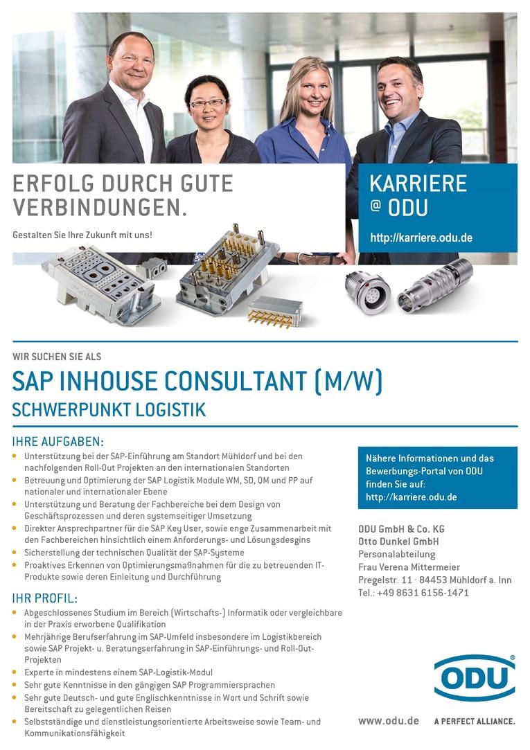 SAP Inhouse Consultant (m/w) Schwerpunkt Logistik