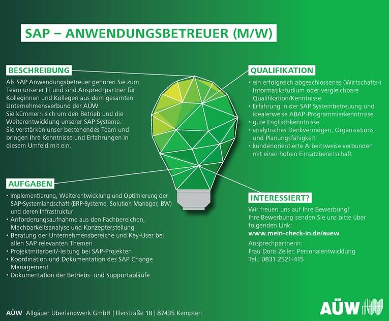 SAP - Anwendungsbetreuer (m/w)