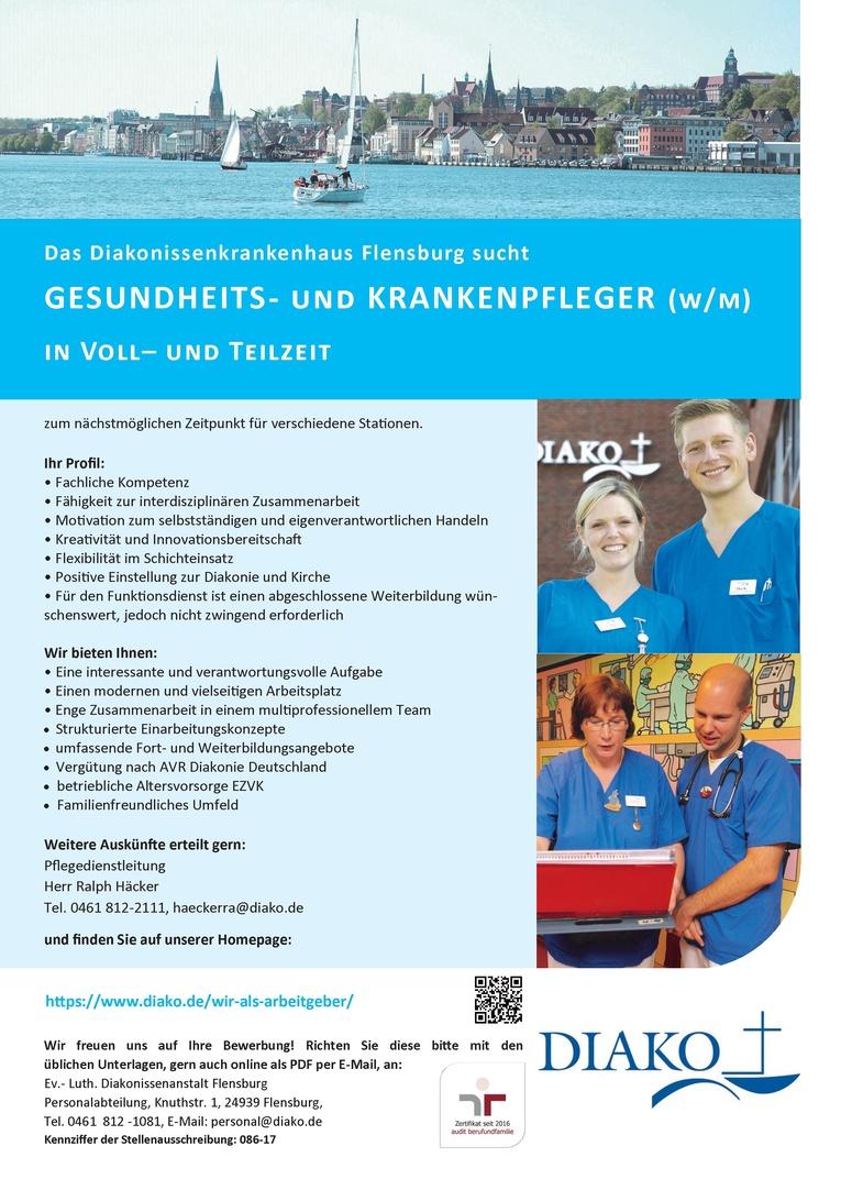 Gesundheits- und (Kinder-) Krankenpfleger (w/m)