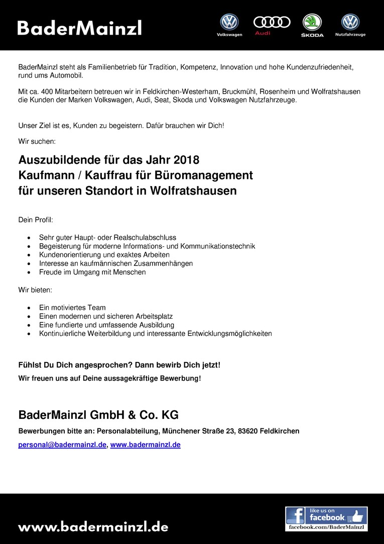 Azubi 2018 - Kaufmann / Kauffrau für Büromanagement