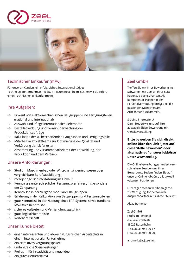Technischer Einkäufer (m/w)