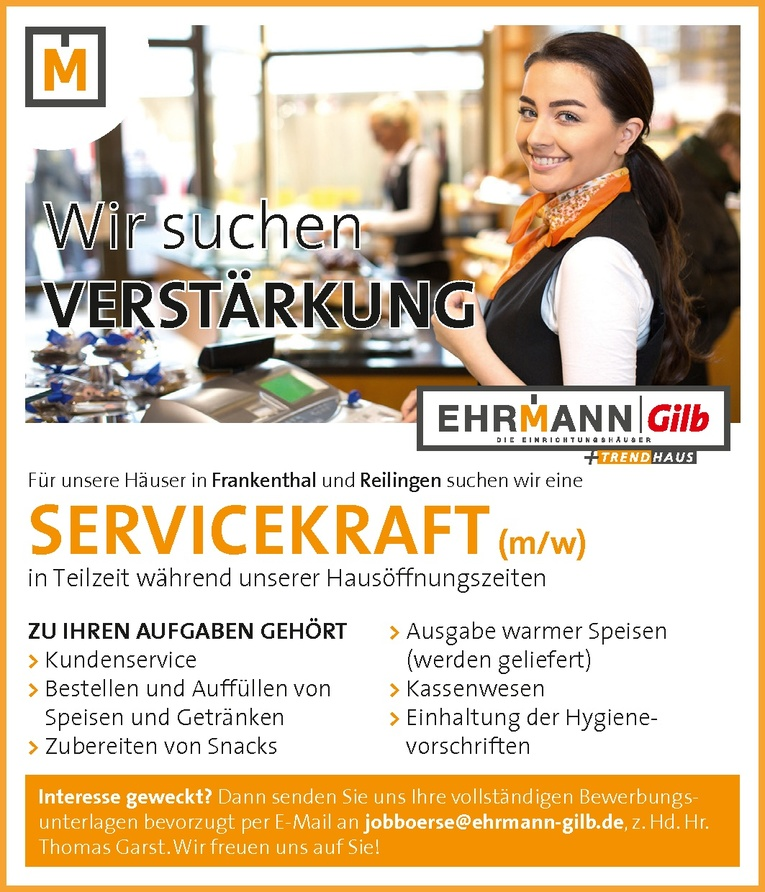 Job Servicekraft Bistro M W