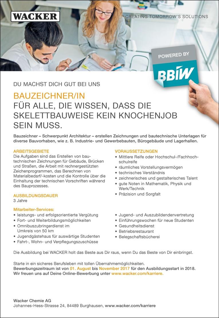 Ausbildung als Bauzeichner/in