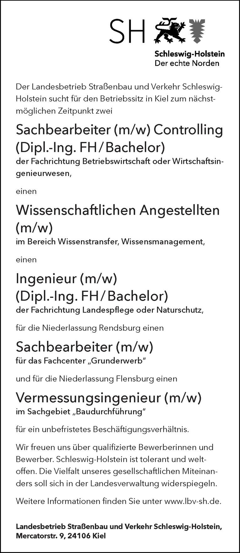 Ingenieur (m/w) Landespflege oder Naturschutz
