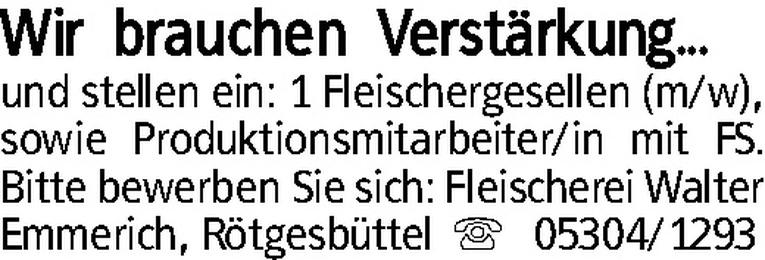 Fleischergeselle (m/w)
