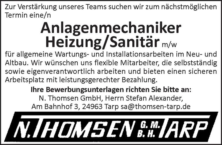 Anlagenmechaniker Heizung/Sanitär m/w