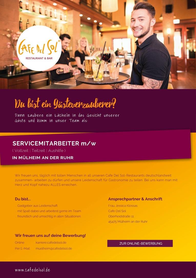 Servicemitarbeiter m/w ( Aushilfe )